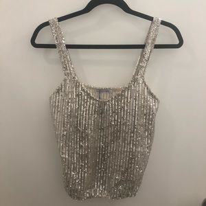 Zara Sequin Tank Top